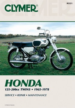Clymer Manual Honda 125-200cc Twins 65-78 M321