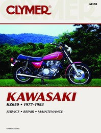 Clymer Manual Kawasaki KZ650 77-83 M358