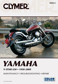 Clymer Manual Yamaha V-Star 650 98-11 M495