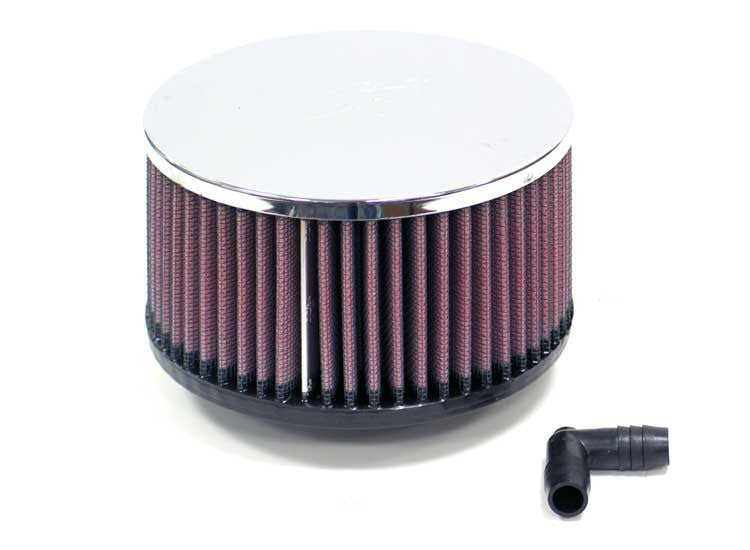 K&N  UNIVERSAL Air Filter RA-056V CHROME w/ vent
