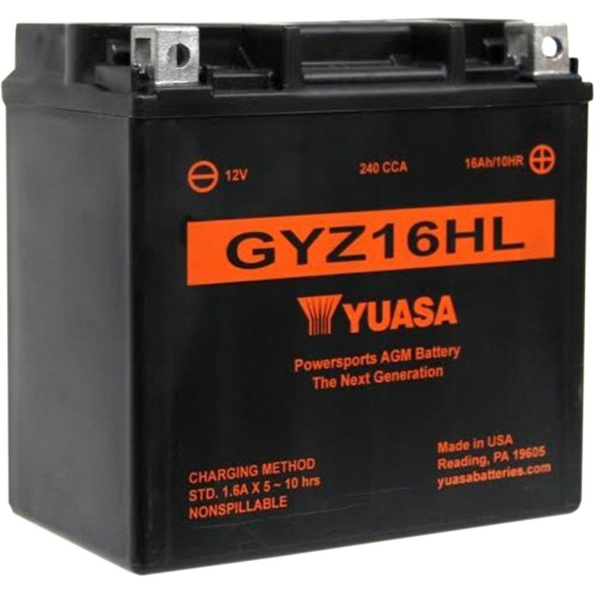 Yuasa GYZ16HL  Factory Activated Battery