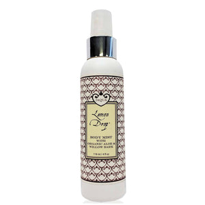 Lemon Drop Hydrating Body Mist with Organic Aloe & Willow Bark - lemonandmelonstore