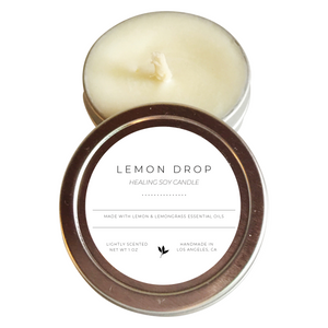 Lemon Drop - Handmade Soy Healing Candle - lemonandmelonstore