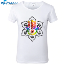 Load image into Gallery viewer, Mandala Hamsa Hand T-shirt - lemonandmelonstore