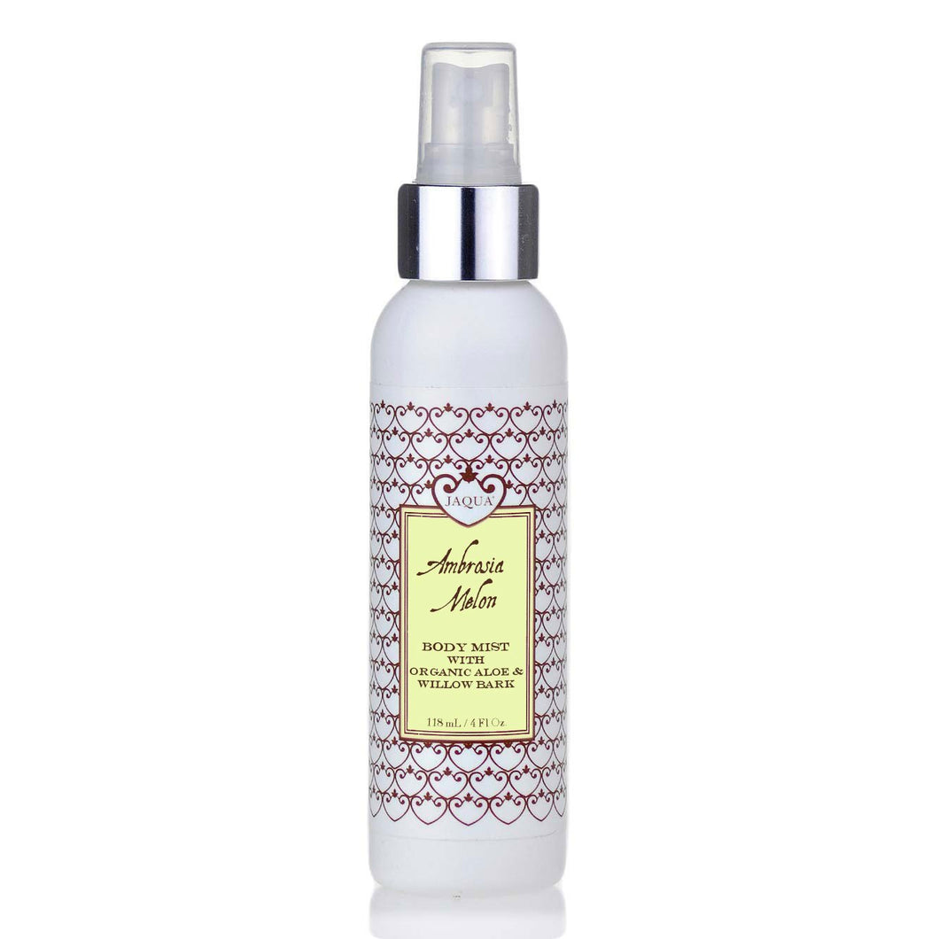 Ambrosia Melon Hydrating Body Mist with Organic Aloe & Willow Bark - lemonandmelonstore