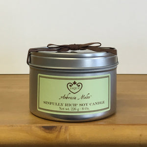NEW Sinfully Rich Ambrosia Melon Soy Candle - lemonandmelonstore