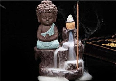 The little monk + 20 incense cones - lemonandmelonstore