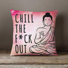 Load image into Gallery viewer, Zen Pillow Buddha Yoga Throw Pillow Cover - lemonandmelonstore
