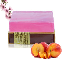 Load image into Gallery viewer, Shea Butter Peach Natural Essential Oil Soap - lemonandmelonstore