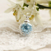 Flowers in Glass Balls Necklaces - lemonandmelonstore