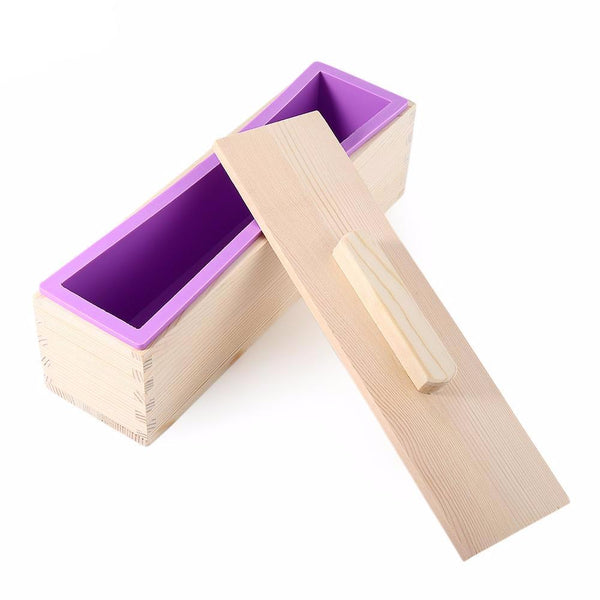Wooden Soap Mold with Silicone Liner - lemonandmelonstore