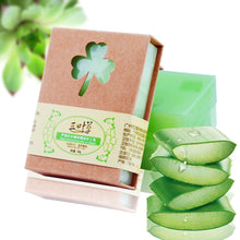 Load image into Gallery viewer, Aloe Vera Gel Natural Essential Oil Soap - lemonandmelonstore