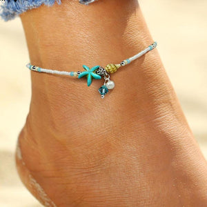 Starfish Ankle Bracelet - lemonandmelonstore