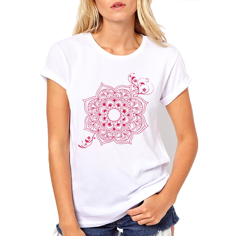 Mandala Flower T-shirt - lemonandmelonstore