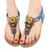 Bohemian Gemstone Sandals - lemonandmelonstore