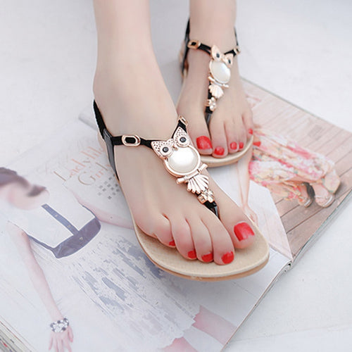Owl Sandals - lemonandmelonstore