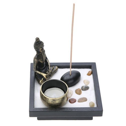 Zen Garden Sand Kit with Tealight Holder - lemonandmelonstore