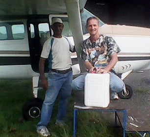 A Coffee Break with our Bush Pilot