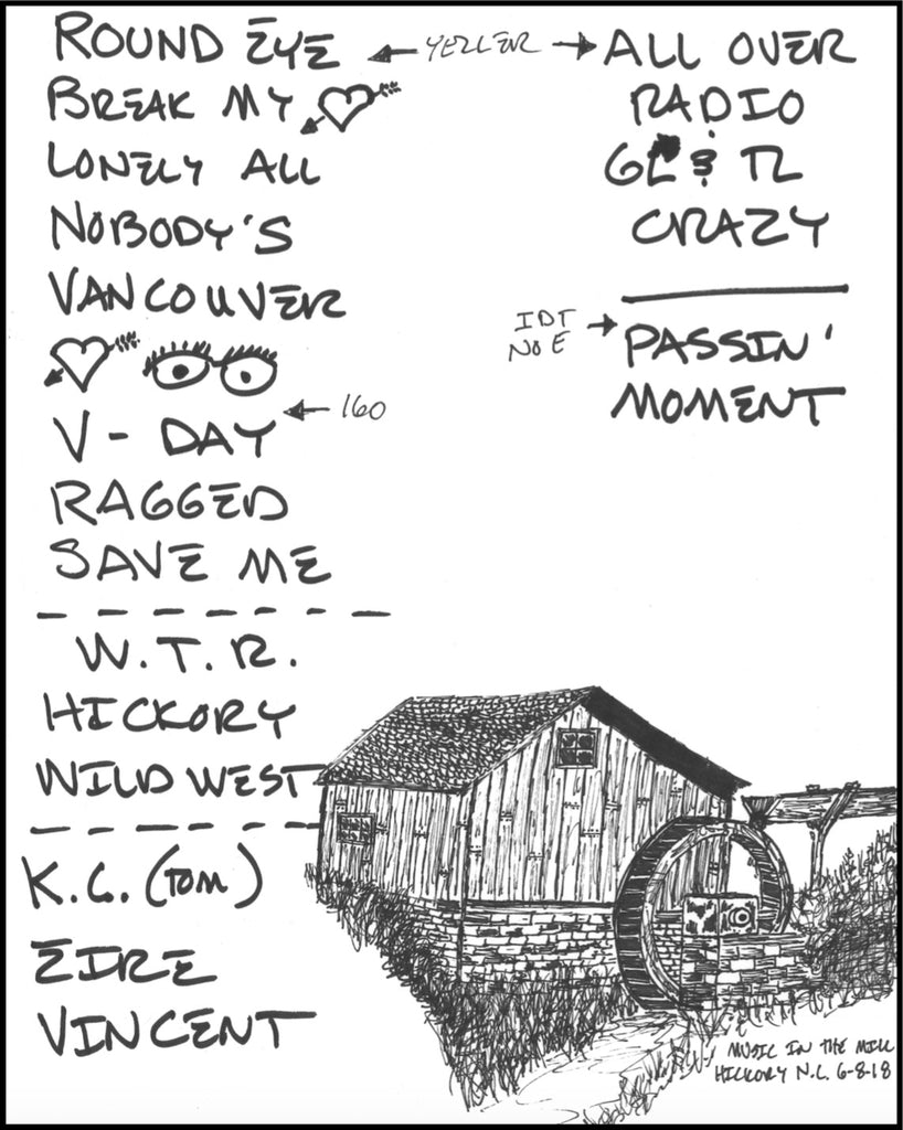 Hand-Drawn Set Lists
