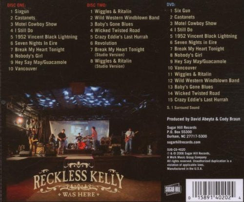 Reckless Kelly Was Here CD/DVD (2006)