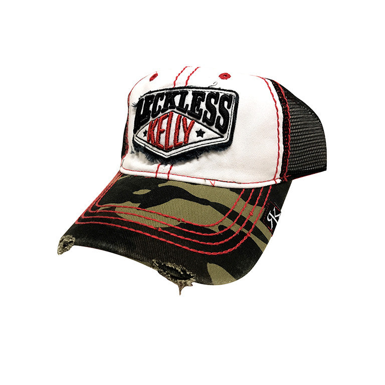 RK Camo & Red Tattered Hat