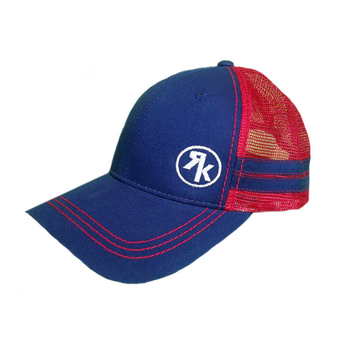 Navy and Red Circle Stripes Hat