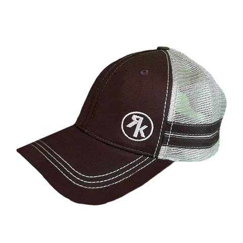 RK Brown and Khaki Circle Stripes Hat