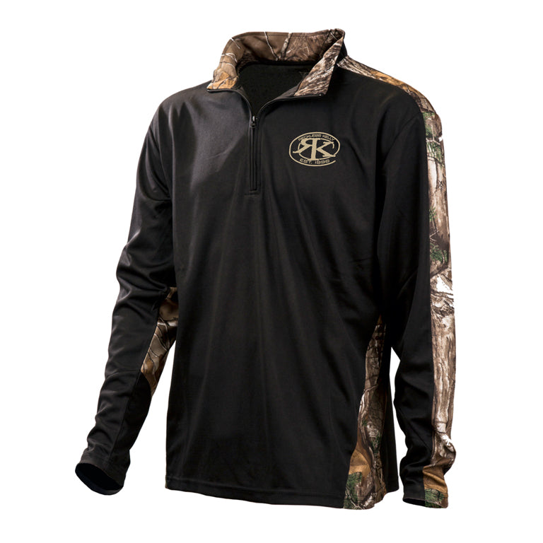 RK Wicking Performance Quarter Zip with Realtree Xtra Camo