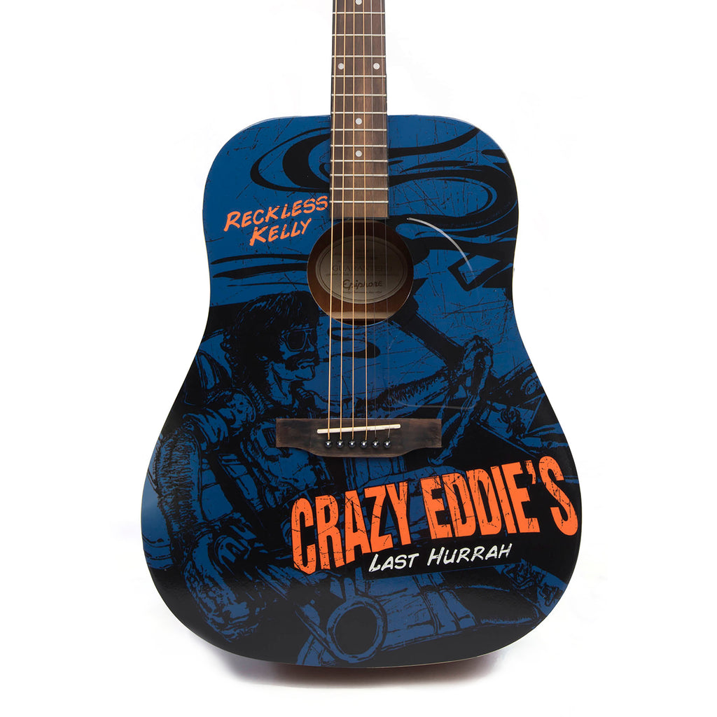 Crazy Eddie's Last Hurrah Guitar - AUTOGRAPHED BY RECKLESS KELLY