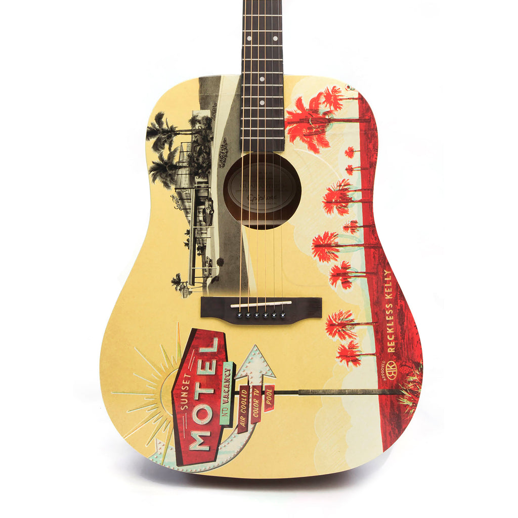 Sunset Motel Guitar - AUTOGRAPHED BY RECKLESS KELLY