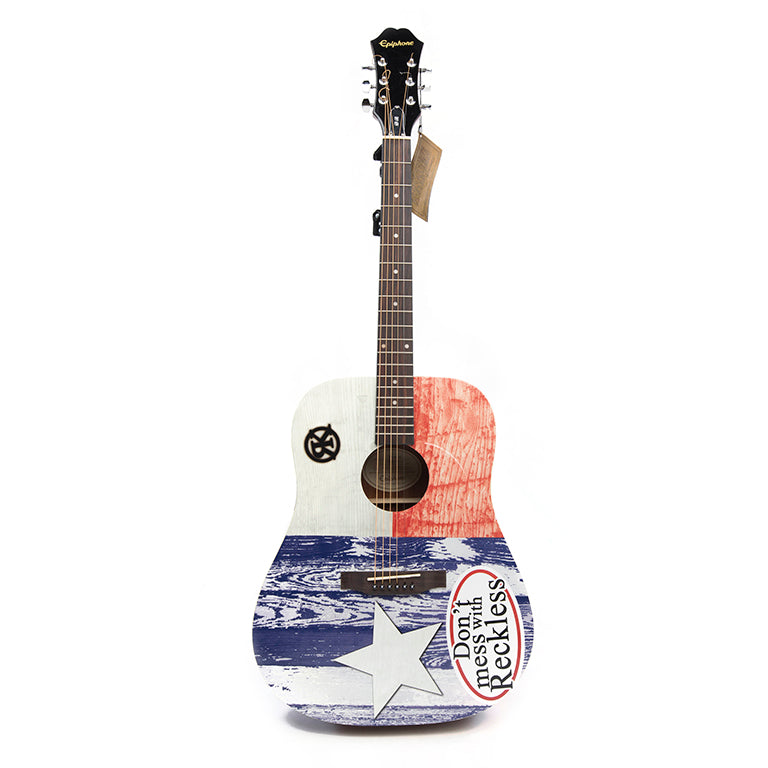 Don't Mess With Reckless Guitar - AUTOGRAPHED BY RECKLESS KELLY