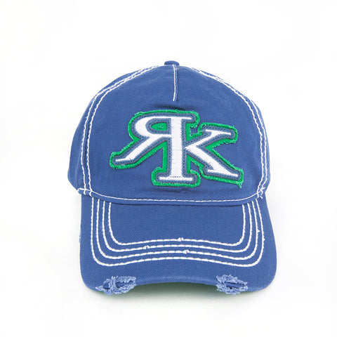 RK Blue and Green Tattered Hat