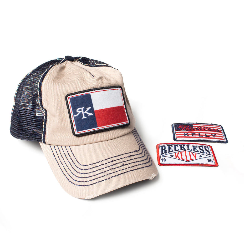 RK Velcro Trucker 3 Patch Cap – Reckless Kelly e541ad96bcc