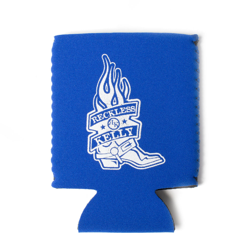 Royal Blue and White RK Boot Koozie