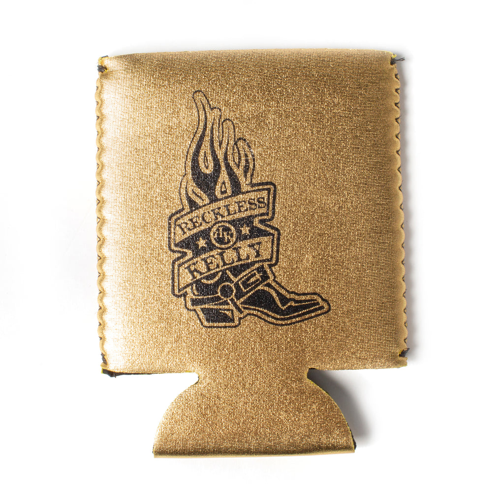 Metallic Gold RK Boot Koozie