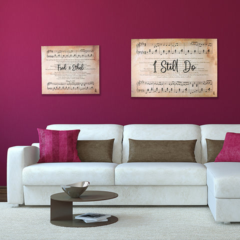"""I Still Do"" Lyric Wall Art"