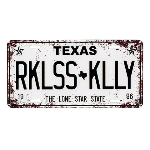 RK Aluminum License Plate