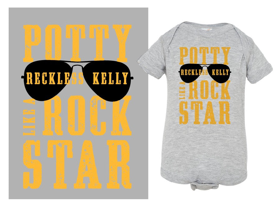 Potty Like A Rock Star Onesie
