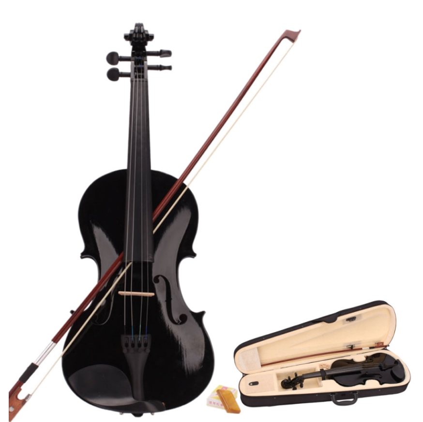 Texas Black Fiddle w/ Case - Autographed by RK