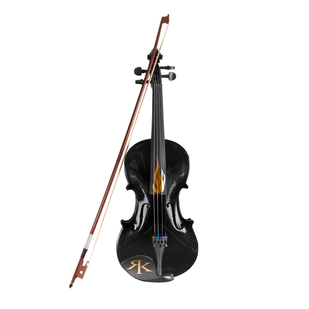 Flame  Fiddle Black w/ Case - Autographed by RK