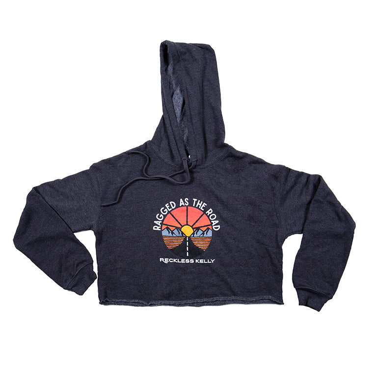 Ragged as the Road Women's Cropped Fleece Hoodie