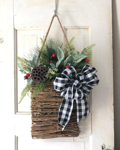 Winter Basket wreath