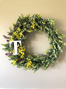 Frosted eucalyptus wreath