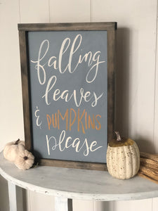 Falling leaves sign