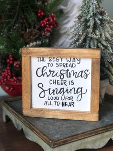 Elf Christmas mini sign