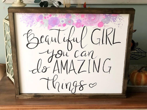 Beautiful girl sign
