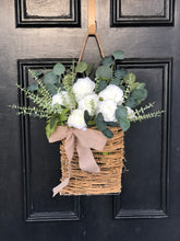 Load image into Gallery viewer, White Wanda spring basket wreath
