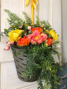 Sunshine bucket wreath