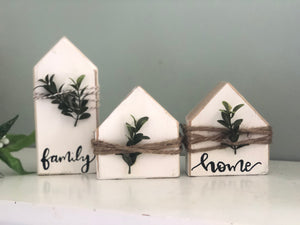 DIY mini wood block home set