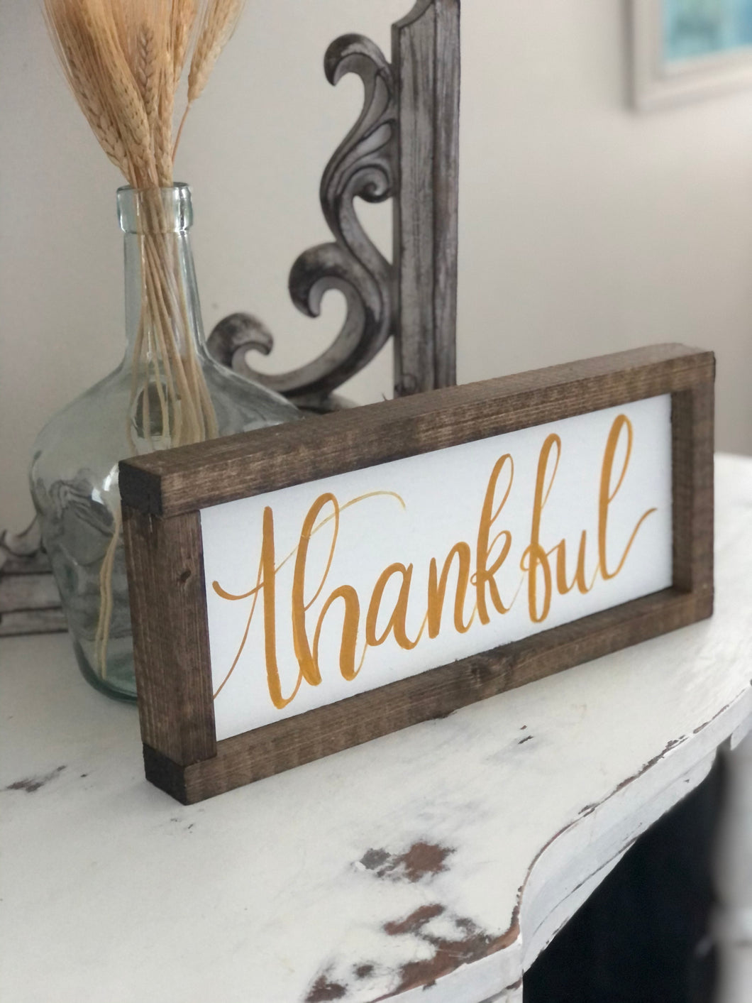 Thankful shelf sign